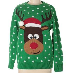 Karen Scott Reindeer Holiday Sweater